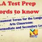 ELA Test Prep Terms: Definitions & Examples ZIP File of PP