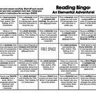 ELEMENTS OF LITERATURE Reading Bingo Sheet
