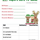 E.L.F. Report Card to Santa - Boy