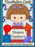 ELL Newcomers Shapes and Numbers Vocabulary Cards
