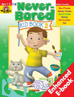 Never-Bored Kid Book 2: Ages 7 & 8 (Enhanced eBook)