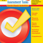 Reading Assessment Tasks: Quick Check Activities, Grade 1