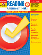 Reading Assessment Tasks: Quick Check Activities, PK (Enha