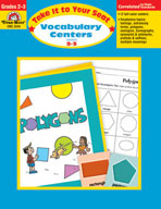Take It to Your Seat Vocabulary Centers (Enhanced eBook)