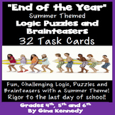 """SUMMER"" Themed BRAIN TEASERS, LOGIC PUZZLES, TASK CARDS"
