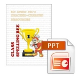 Spelling Bee Activity Packet for Grade 1 (in MS PowerPoint)