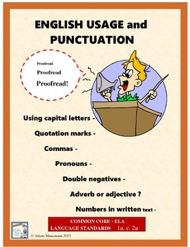 ENGLISH USAGE and PUNCTUATION Review Lessons