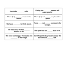ESL Grammar - much, many, a lot of, a few, etc- activity cards