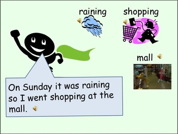 ESL Language Lab Powerpoint - Past Tense Verbs and Weekends