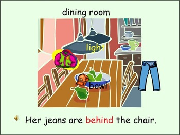 ESL Language Lab Powerpoint - Prepositions and House Vocabulary