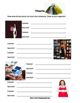 ESL - Shopping worksheet
