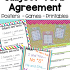 ESL Subject Verb Agreement Posters