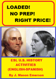 ESL U.S. HISTORY ACTIVITIES (ENGLISH-SPANISH)
