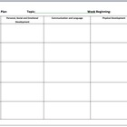 EYFS Environment Plan Room Plan Weekly UK