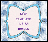 EYLF Template 1,2,3 & 4 CD Bundle - free postage within Australia