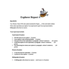 Early Explorers Report (guided research project)