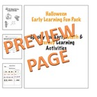 Early Learning Halloween Packet