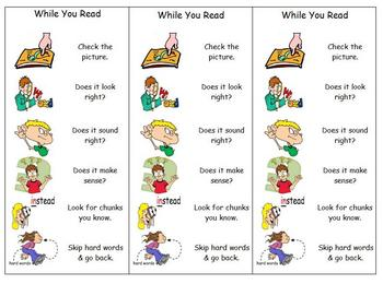 Early Reading Strategies - Posters and Bookmarks
