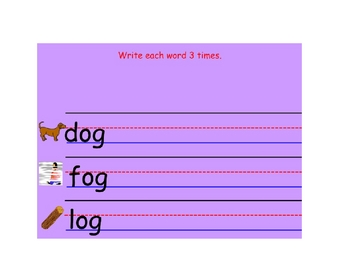 Early Word Study for -ad -ap Word Families