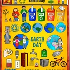 Earth Clip Art for Earth Day, Recycling, and Friends