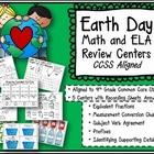 Earth Day 4th Grade ELA and Math Review Centers