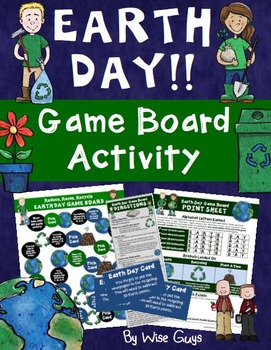 Earth Day Activity Fun Game Board Reduce, Reuse, Recycle