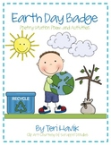 Earth Day Badge - Poem and Activities for your Poetry Station