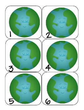 Earth Day Calendar Numbers