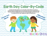 Earth Day Color By Code - Color By Number