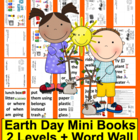 Earth Day Emergent Reader and Harder + Pocket Chart Cards 