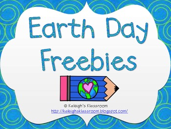 Earth Day Freebies!