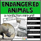 Earth Day Nonfiction ~ Endangered Animals