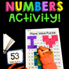 Earth Day Place Value 100 Chart Puzzle