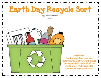 Earth Day Recycle Sort