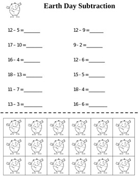Earth Day Subtraction {FREEBIE}