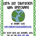 Earth Day Subtraction Task Card Activity
