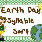 Earth Day Syllable Sort