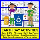 Earth Day Take Home Graph - 7 Posters & Parent Letter