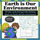 Earth Day Task Cards - 40 Science Brain Builders
