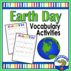 Earth Day Vocabulary CARDS and Activities