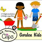 Earth Day/Spring Garden Kids-  Commercial Use