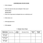 Earthquake Review Study Guide