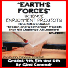 Earth's Forces Erosion/ Weathering Differentiated Project