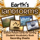 Earth's Landforms {Real pictures to sort, recording sheets