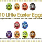 Easter 10 Little Eggs Song, Puzzles, and Creative Writing Sheet