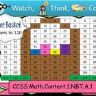 Easter Basket Hundreds Chart to 120 - Watch, Think, Color!