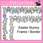 Easter Bunny Frame / Border Clip Art - Personal & Commercial Use