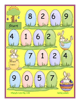 Easter Bunny Hop 0-31 math game