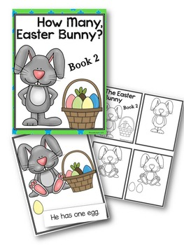 Easter Bunny Interactive Easy Reader Number Books