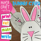 Easter Bunny Rabbit Card - Simple Paper Craft for Kindergarten